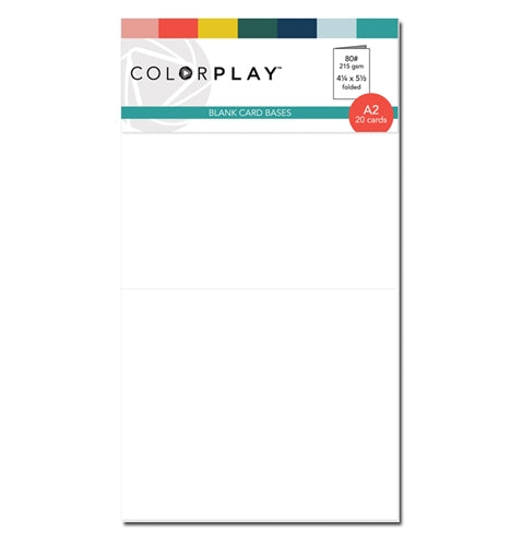 Colorplay Cardstock Card Base- White 20 count