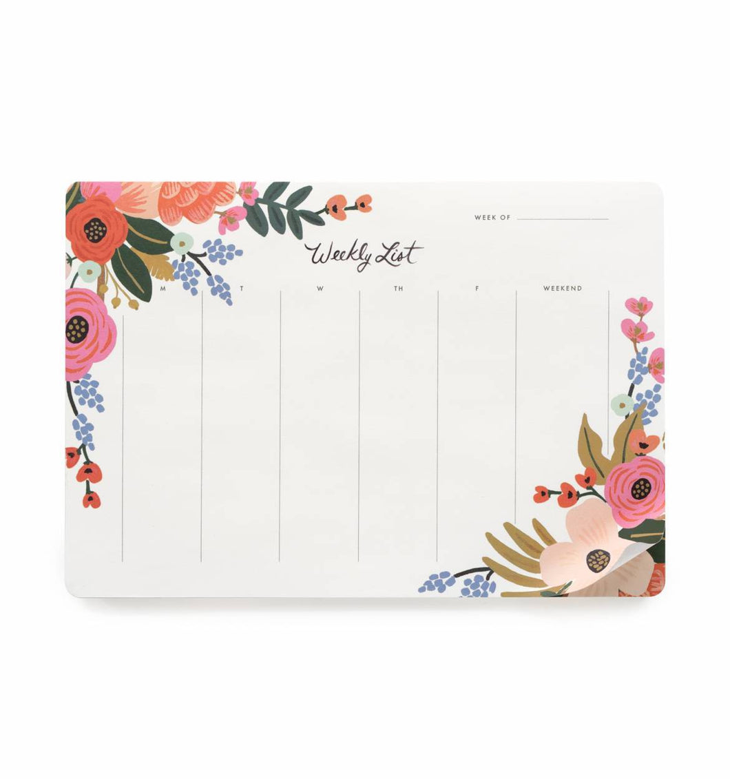 Rifle Paper Lively Floral Weekly Desk Pad