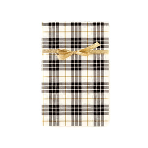 PLGW207 - CREAM/GOLD PLAID GIFT WRAP