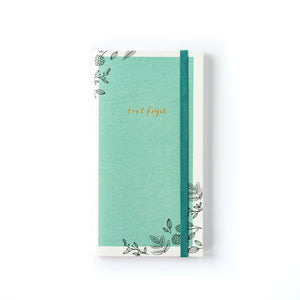 PLGF81-PAPER LOVE GRAPHIC FLORAL PASSWORD KEEPER