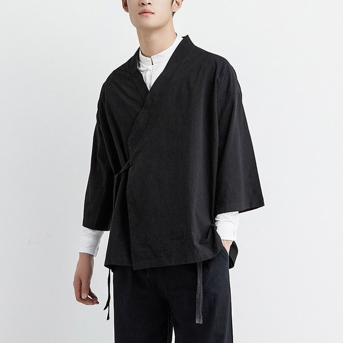 Japanese black yukata