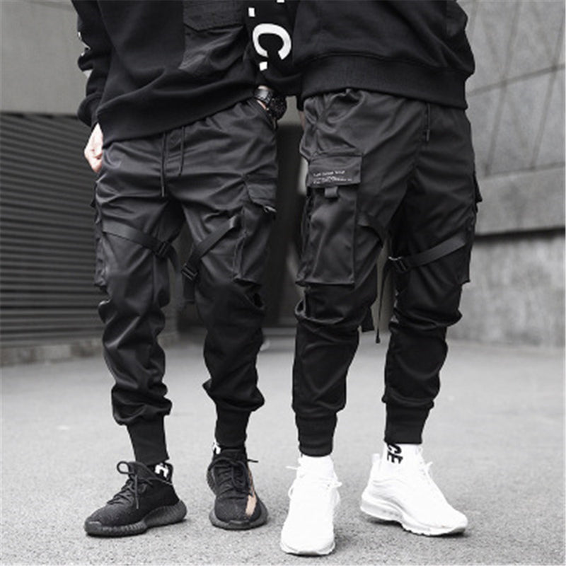 Japanese techwear style black pants
