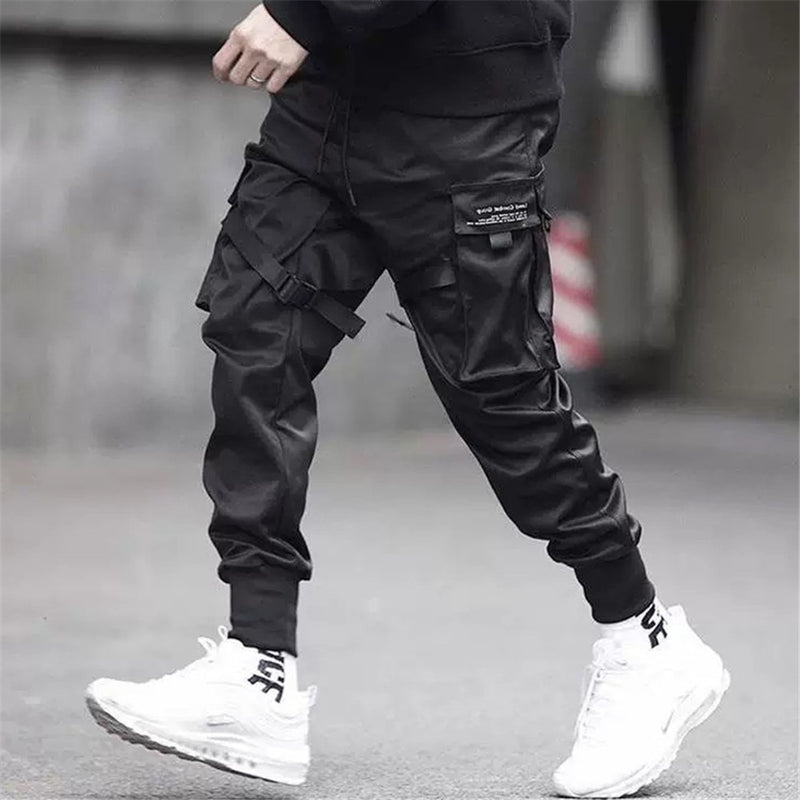 Techwear 4 pockets black pants