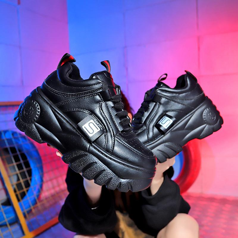 Japanese black platform shoes  (2203880521777)