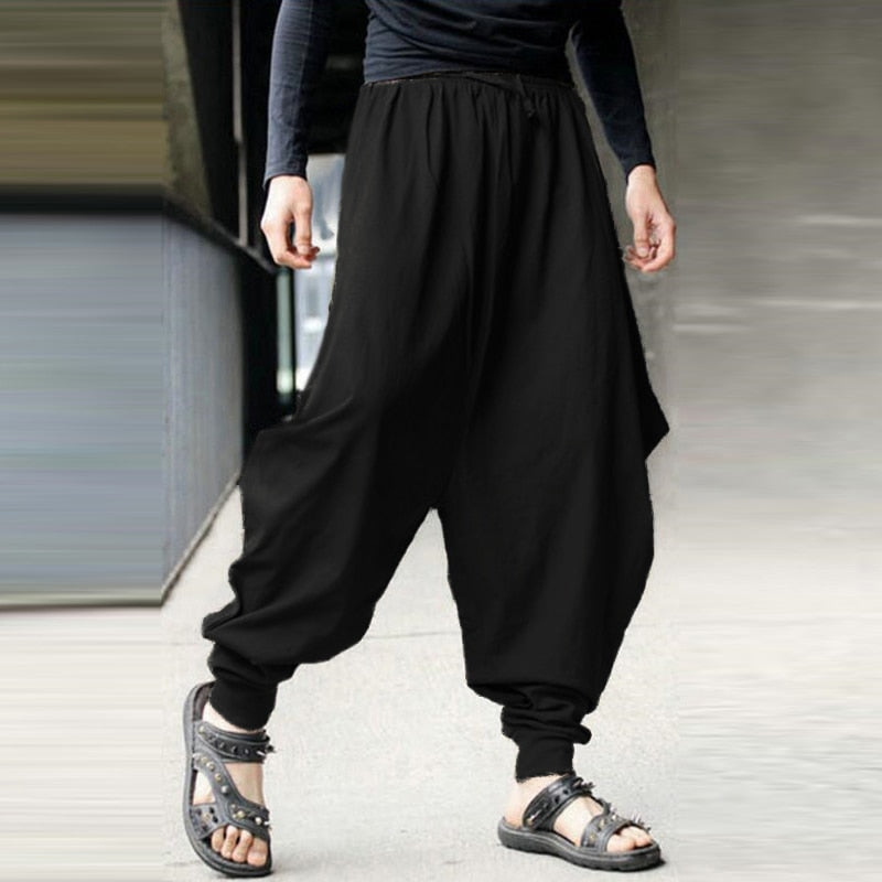 Japanese black sarouel pants