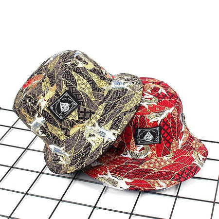 Two embroidered koi fish bucket hat (4286848729175)