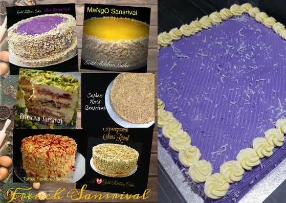 Gold Ribbon Cake Is BACK!!! The Best Ube Cakes and French Sansrivals!!!