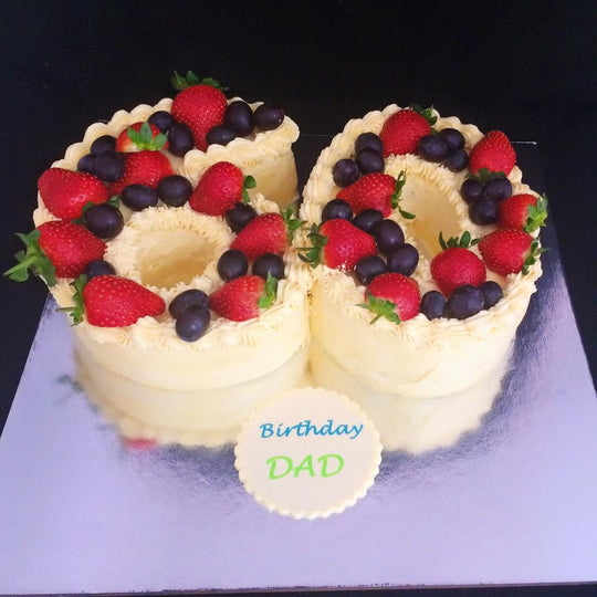 Number and Berries Cake