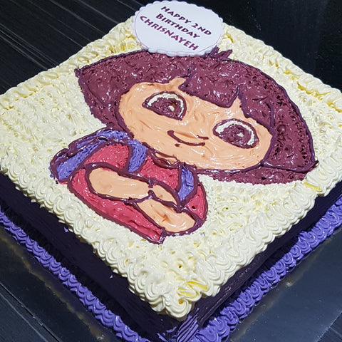 Dora Cake 3Gold Ribbon Cake