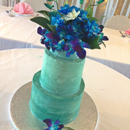 Shade of Blue Wedding Cake