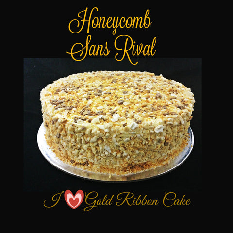 French Honeycomb SansrivalGold Ribbon Cake
