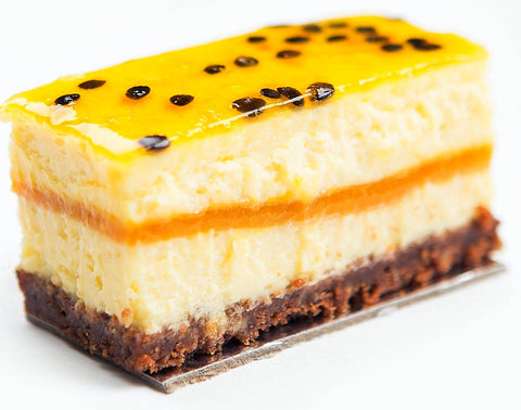 Mango Passion Cheesecake Slice (6 Pack)Gold Ribbon Cake