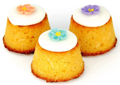 Gluten Free Lime & Coconut Petite Cakes  (6 Pack)Gold Ribbon Cake