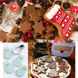 16pcs Christmas Stainless Steel CutterGold Ribbon Cake
