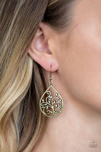 Paparazzi - Enchanted Vines - Brass Earrings - Classy Jewels by Linda