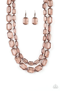 Paparazzi - Ice Bank - Copper Necklace Set - Classy Jewels by Linda