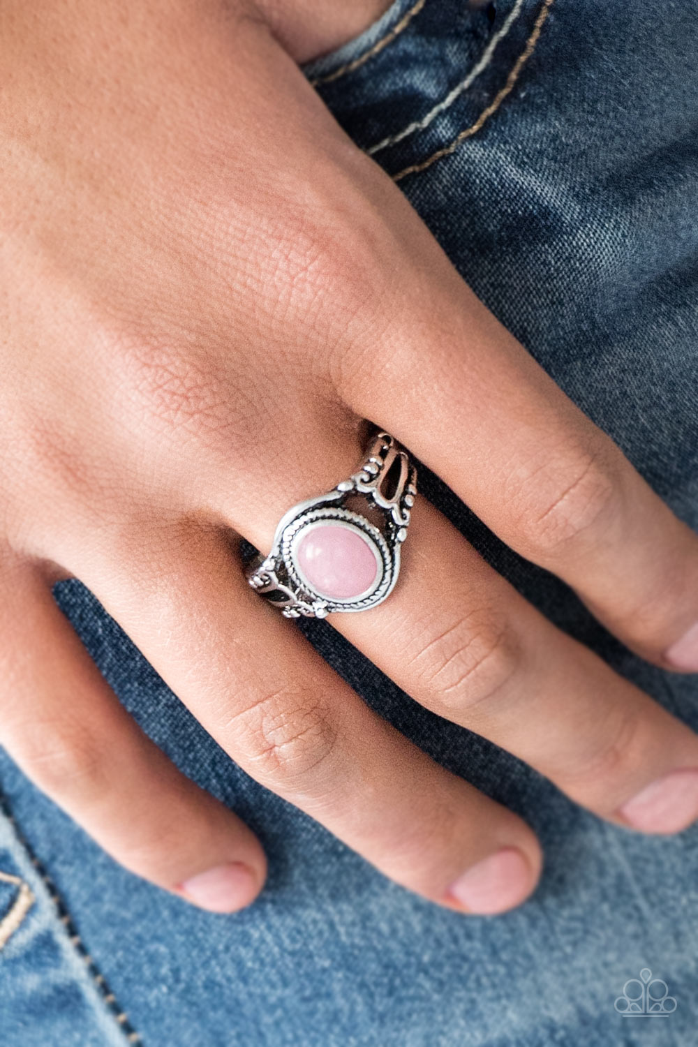 Paparazzi - Peacefully Peaceful - Pink Ring - Classy Jewels by Linda