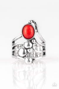 Paparazzi - Wanderlust Wanderer - Red Ring - Classy Jewels by Linda