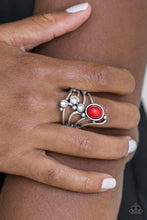 Load image into Gallery viewer, Paparazzi - Wanderlust Wanderer - Red Ring - Classy Jewels by Linda
