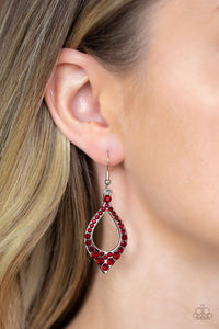 Paparazzi - Finest First Lady - Red Earrings - Classy Jewels by Linda