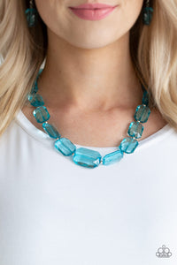 Paparazzi -ICE Versa - Blue Necklace Set - Classy Jewels by Linda