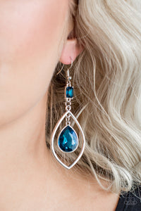 Paparazzi - Priceless - Blue Earrings - Classy Jewels by Linda