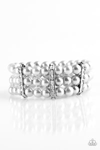 Paparazzi - Put On Your GLAM Face - Silver Bracelet - Classy Jewels by Linda