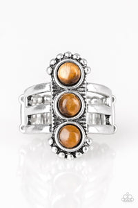 Paparazzi -   Rio Trio - Brown Ring - Classy Jewels by Linda