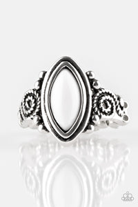 Paparazzi - ZOO Hot To Handle - White Ring - Classy Jewels by Linda