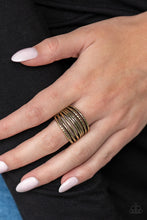 Load image into Gallery viewer, Paparazzi - Basic Maverick - Brass Ring - Classy Jewels by Linda