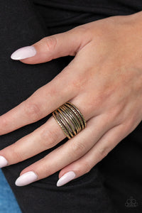 Paparazzi - Basic Maverick - Brass Ring - Classy Jewels by Linda