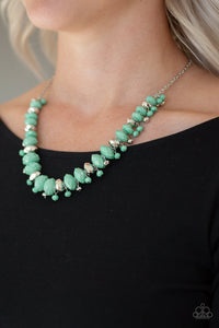 Paparazzi - BRAGs To Riches - Green Necklace Set - Classy Jewels by Linda