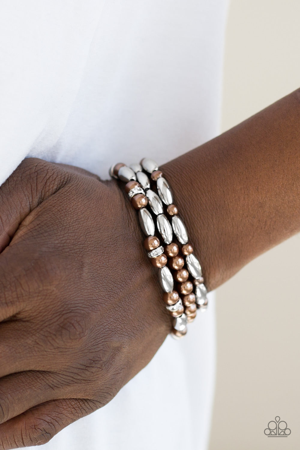 Paparazzi - Chic Contender - Brown Bracelet - Classy Jewels by Linda