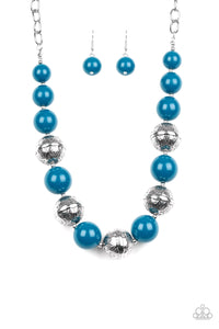 Paparazzi - Floral Fusion - Blue Necklace Set - Classy Jewels by Linda