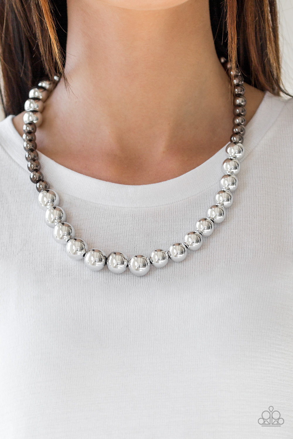 Paparazzi - Power To The People - Silver Necklace Set - Classy Jewels by Linda