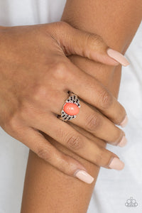 Paparazzi - Princess Problems - Orange Ring - Classy Jewels by Linda