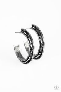 Paparazzi - Retro Reverberation - Silver Earrings - Classy Jewels by Linda