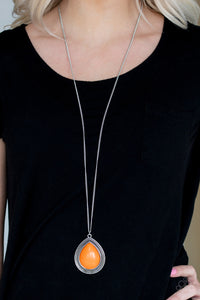 Paparazzi - Chroma Courageous - Orange Necklace Set - Classy Jewels by Linda