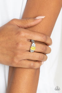 Paparazzi -   Extra Spark-tacular - Yellow Ring - Classy Jewels by Linda
