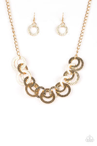 Paparazzi - Treasure Tease - Gold Necklace Set - Classy Jewels by Linda