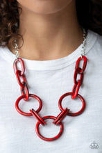Load image into Gallery viewer, Paparazzi - Turn Up The Heat - Red Acrylics Necklace Set - Classy Jewels by Linda