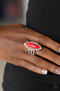 Paparazzi - Canyon Colada - Red Ring - Classy Jewels by Linda