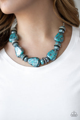 Paparazzi - Prehistoric Fashionista - Blue Necklace Set - Classy Jewels by Linda