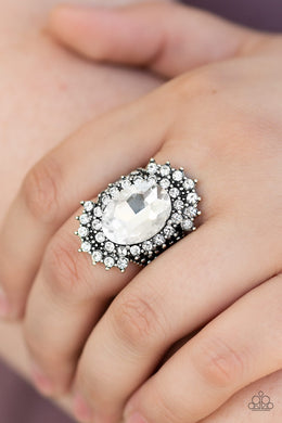Paparazzi - Him and HEIR - White Ring - Classy Jewels by Linda