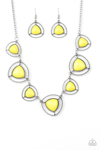Paparazzi - Make A Point - Yellow Necklace Set - Classy Jewels by Linda