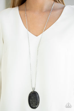 Paparazzi - Stone Stampede - Black Necklace Set - Classy Jewels by Linda