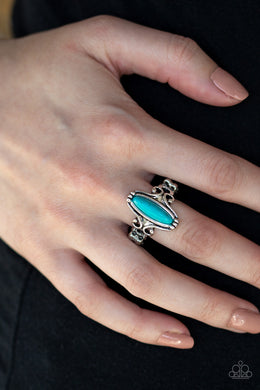 Paparazzi - Desert Canyons - Blue Ring - Classy Jewels by Linda