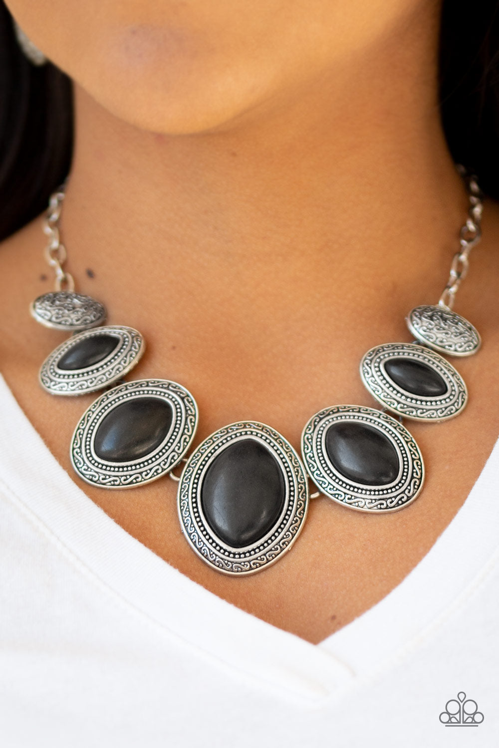 Paparazzi - Sierra Serenity - Black Necklace Set - Classy Jewels by Linda