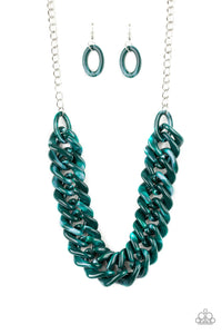 Paparazzi - Comin In HAUTE - Green Necklace Set - Classy Jewels by Linda