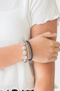 Paparazzi - Beyond The Basics - Blue Bracelet - Classy Jewels by Linda